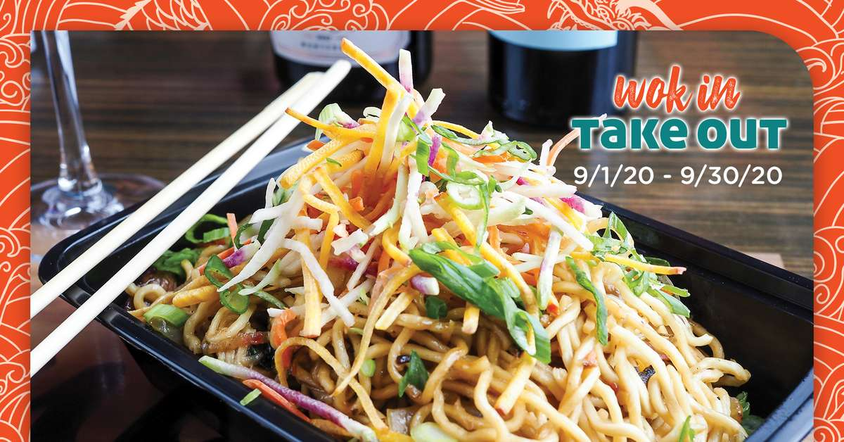 Wok In, Take Out, available throughout September