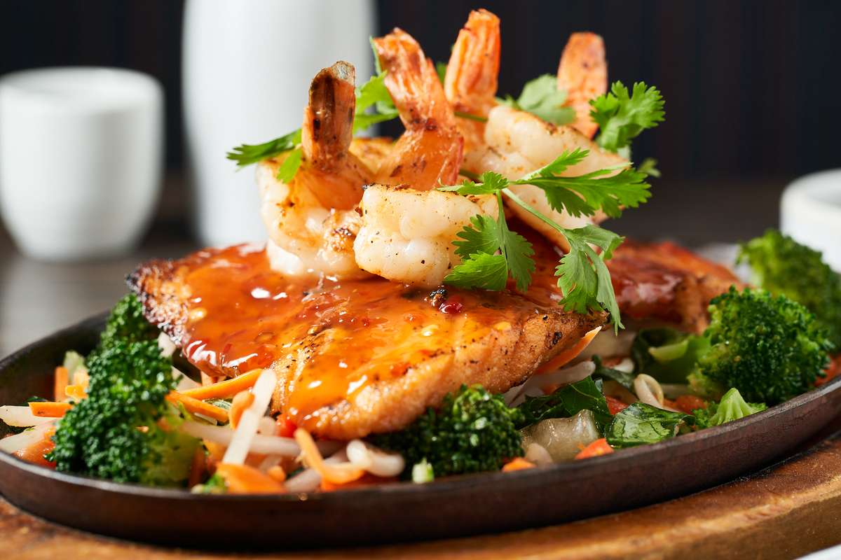Spicy Salmon and Shrimp