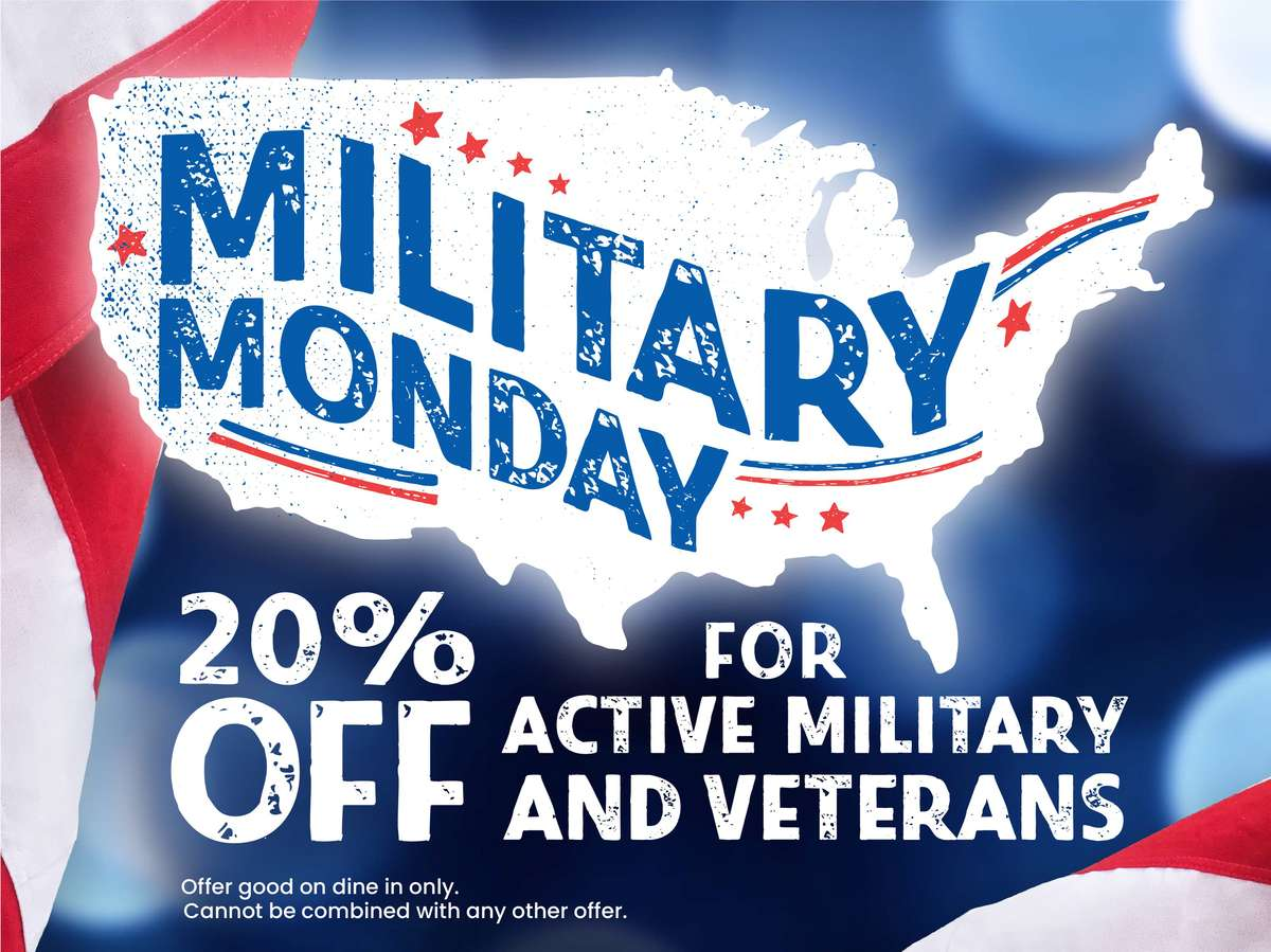 20% Off for Active Military and Veterans