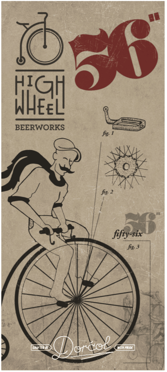 HIGHWHEEL 56 IPA, DORCOL DISTILLING AND BREWING CO