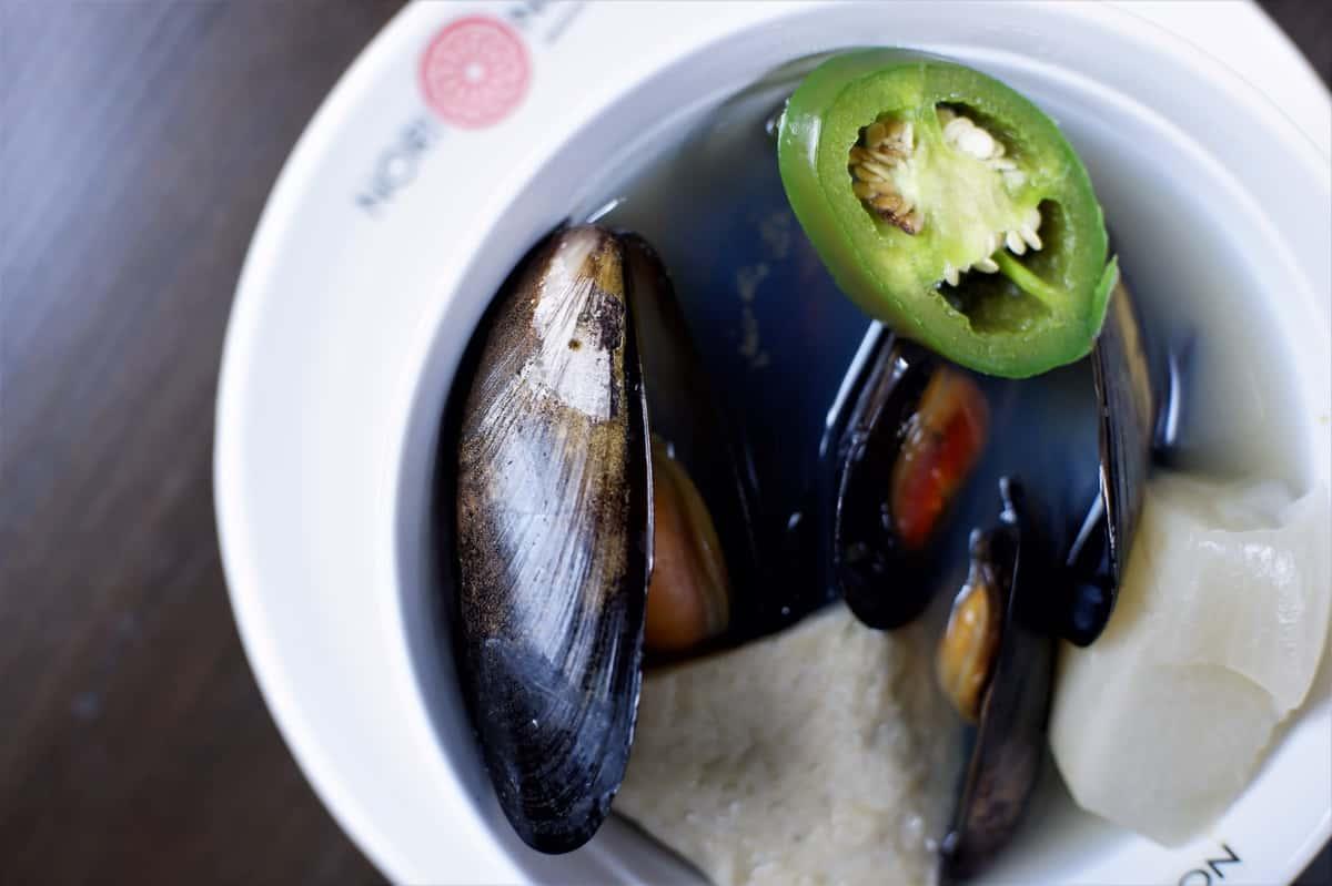 Black Mussel Odeng Tang