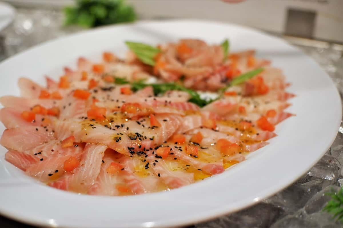 Izumidai with Grape Tomato Salad