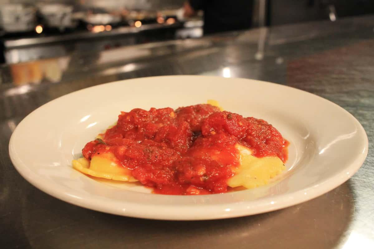 Kids Ravioli with Tomato Sauce