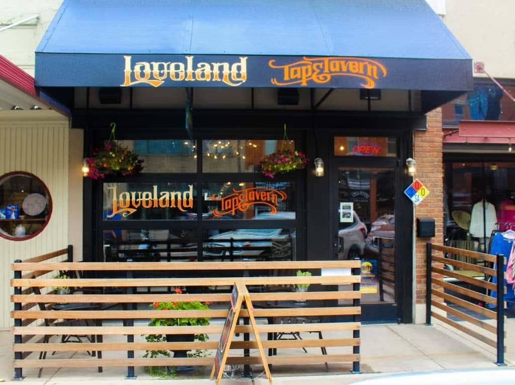 inside loveland tavern