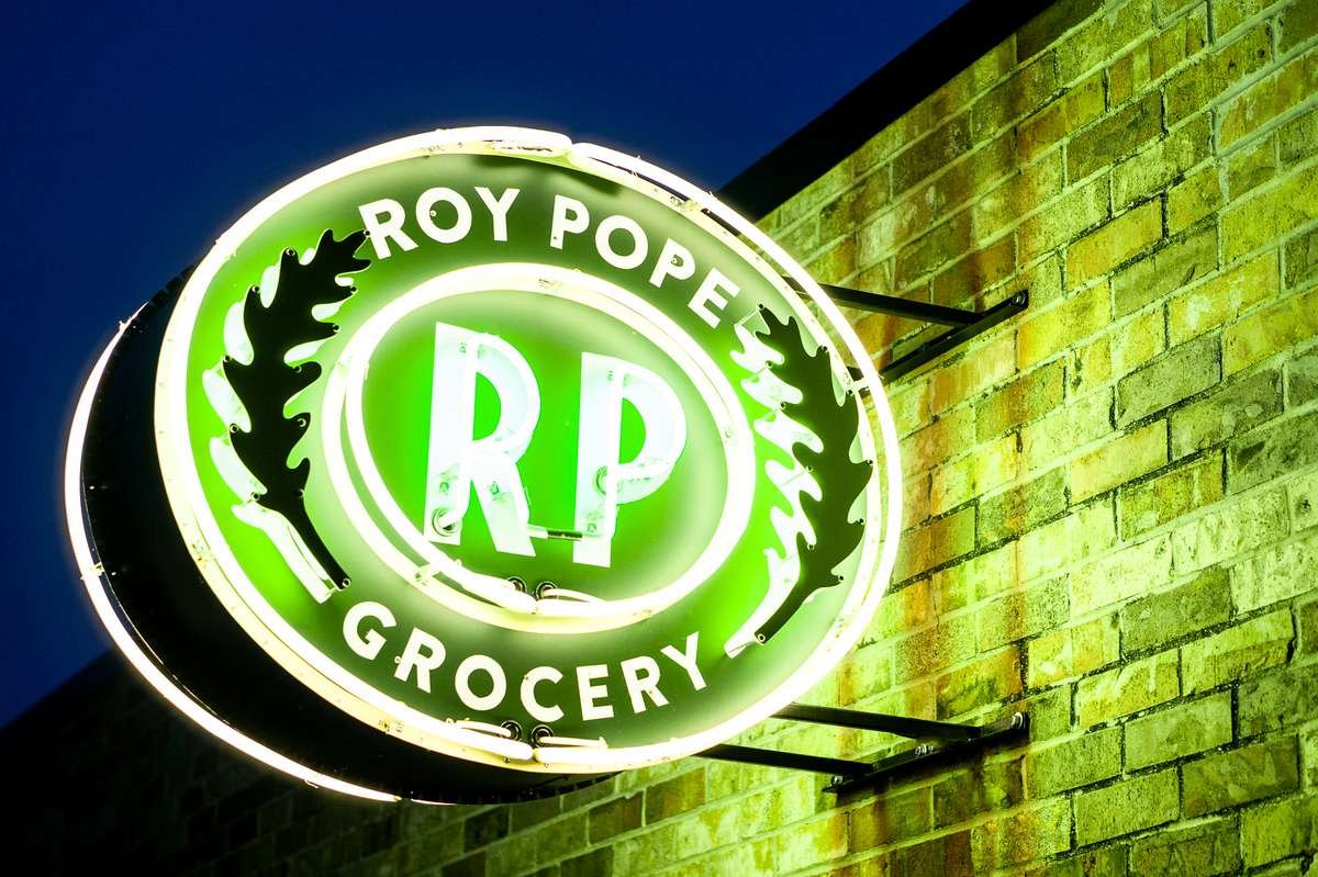 roy pope store sign
