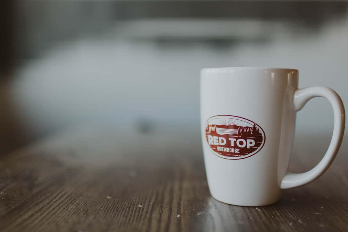 Red Top Coffee Mug