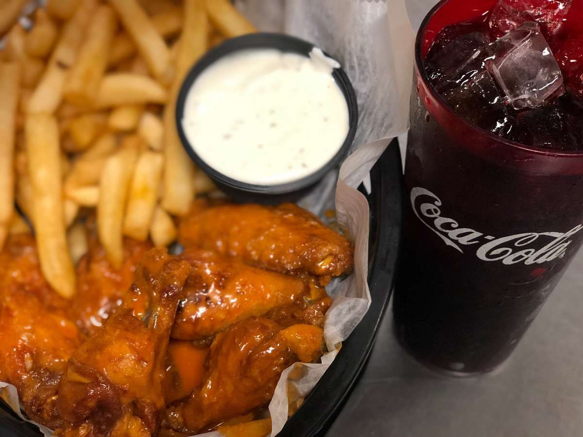 wings and soda