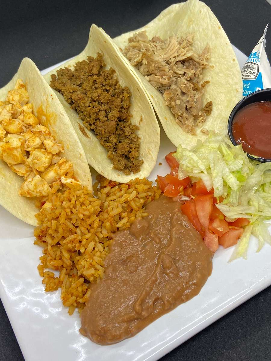 3 Hard or Soft Shell Tacos