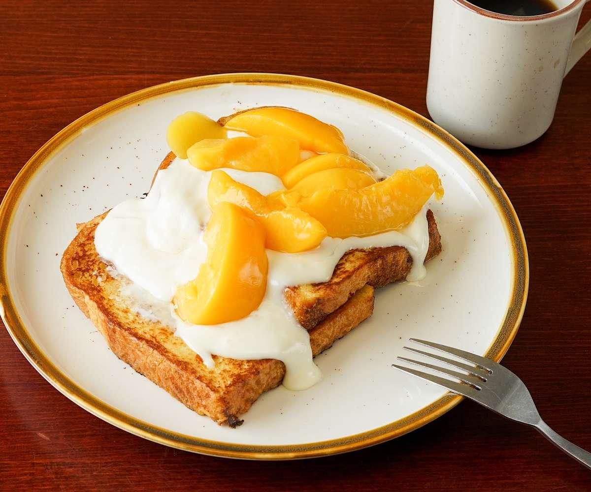 Peach & Cream Cheese French Toast