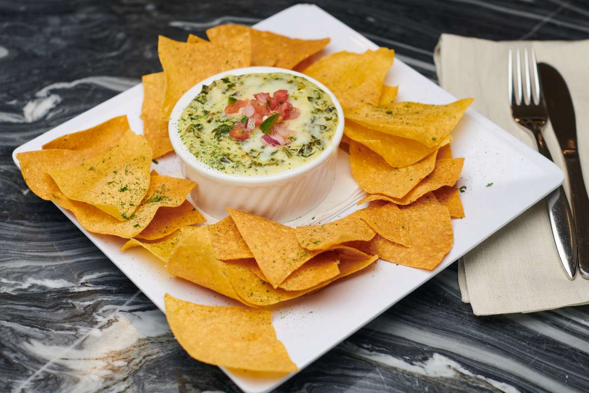 Nick's Spinach Dip & Chips