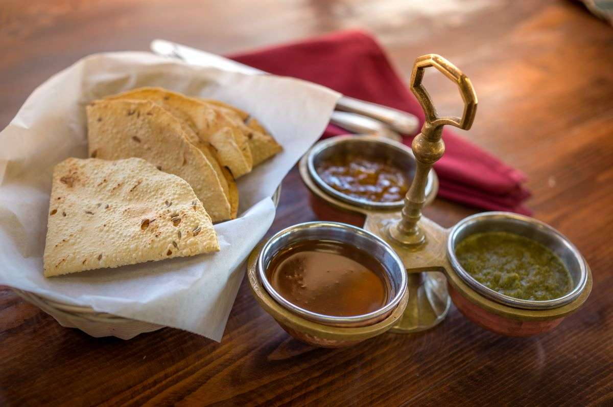 Chutney Sampler With Papadum