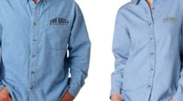 the Grill At The Dome Denim Shirts