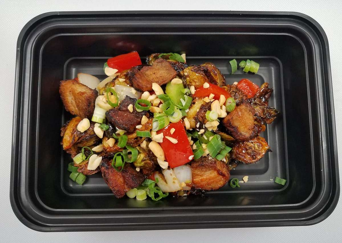 Kung Pao Brussels & Pork Belly