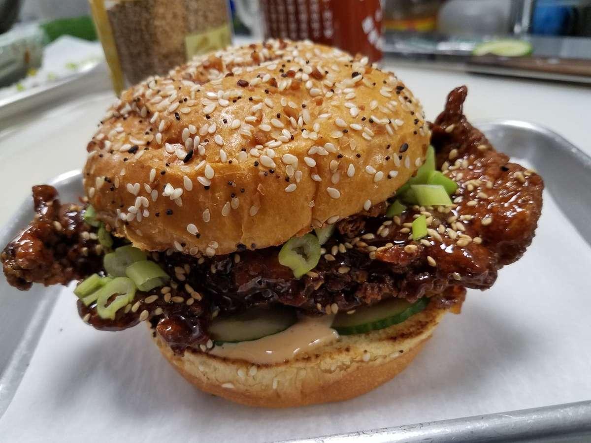 Spicy Korean Fried Chicken Sandwich