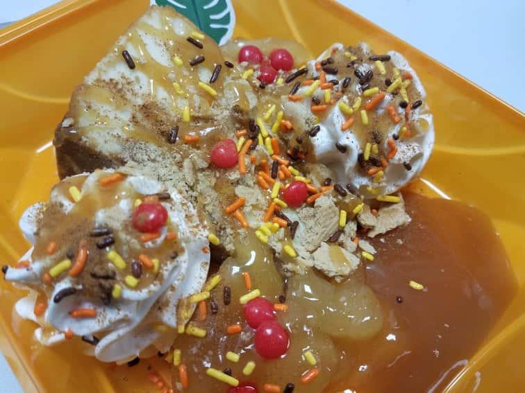Caramel Candy Apple Pie Cheesecake Sundae