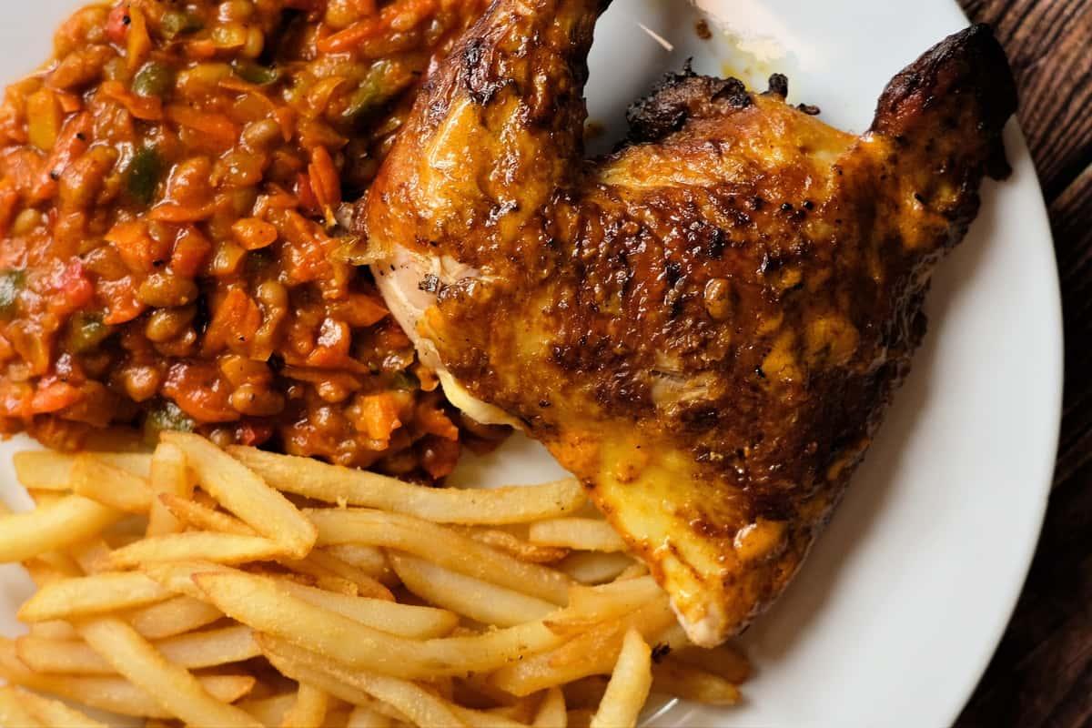 Peri Peri 1/4 Chicken & 2 Sides