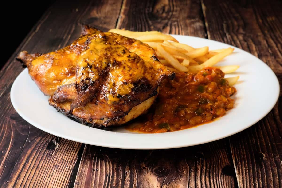 Peri Peri 1/2 Chicken & 2 Sides