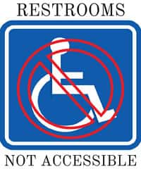 restrooms not wheelchair accessible