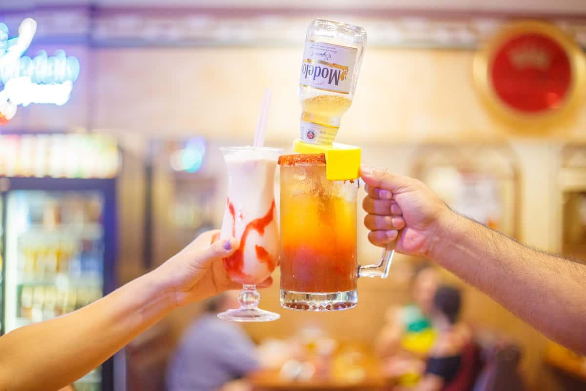 Las Cazuelas cocktails cheers