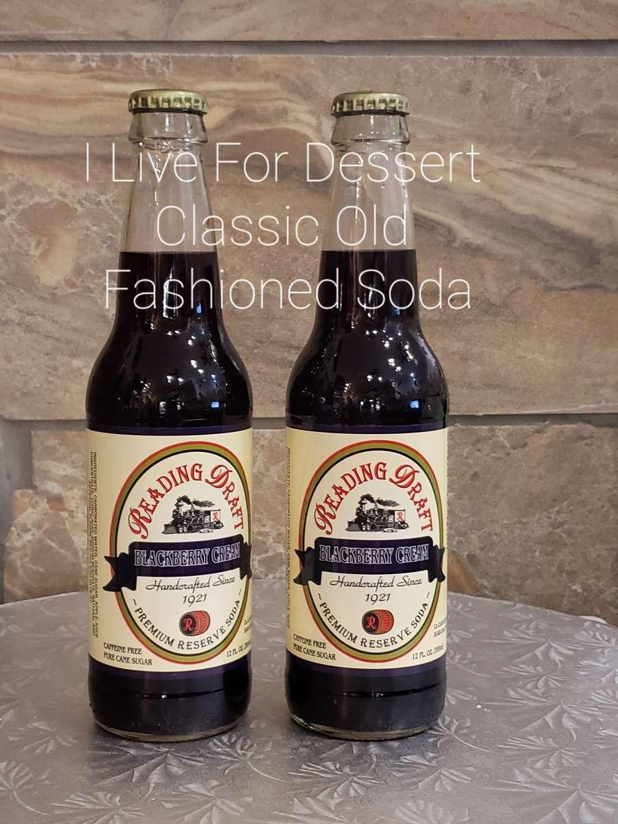 Reading Draft BlackBerry Cream Soda 12 oz Bottle
