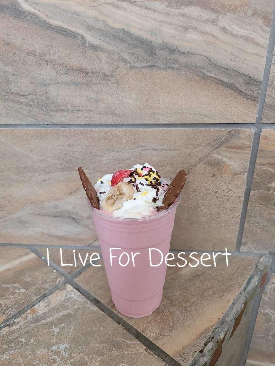 24 Oz Strawberry/Banana Cheesecake Fruit Smoothie