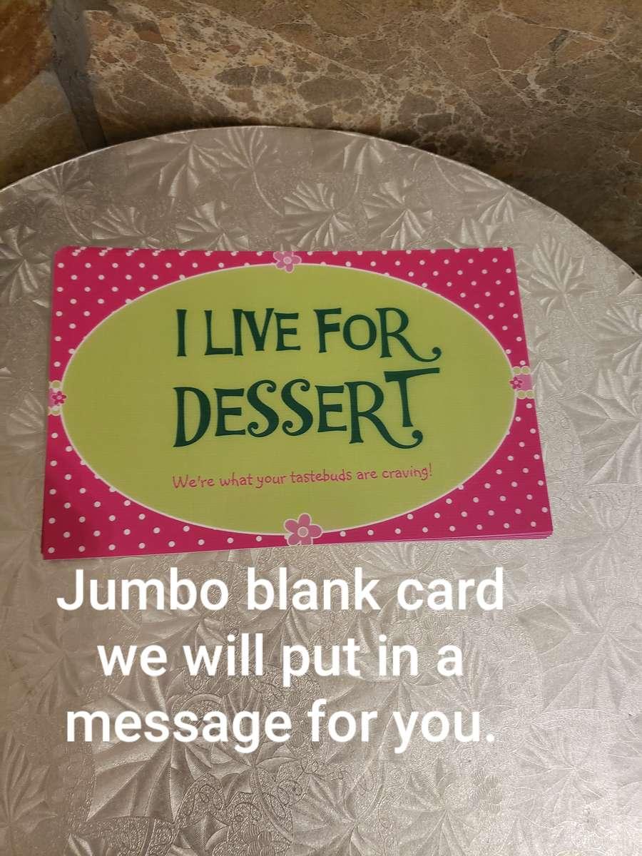 Blank Jumbo Cards ILFD