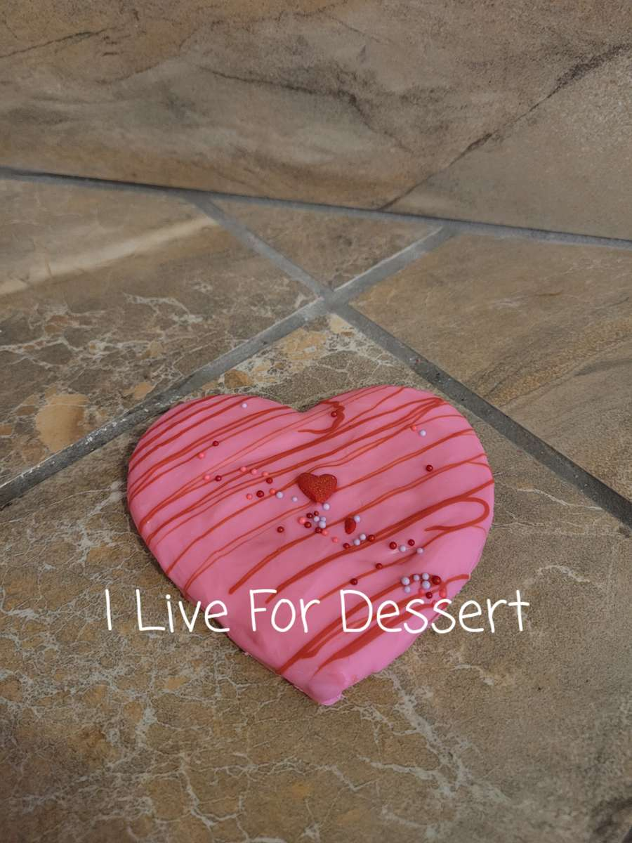Heart Shortbread Cookie Dipped in Chocolate Order By 2 PM For Next Day