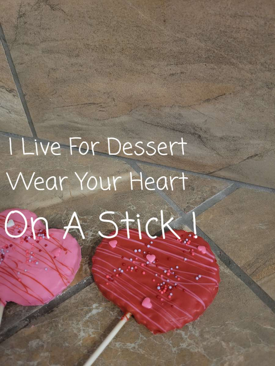 """4"""" Heart on Stick Designs Vary 3 Day Notice"""