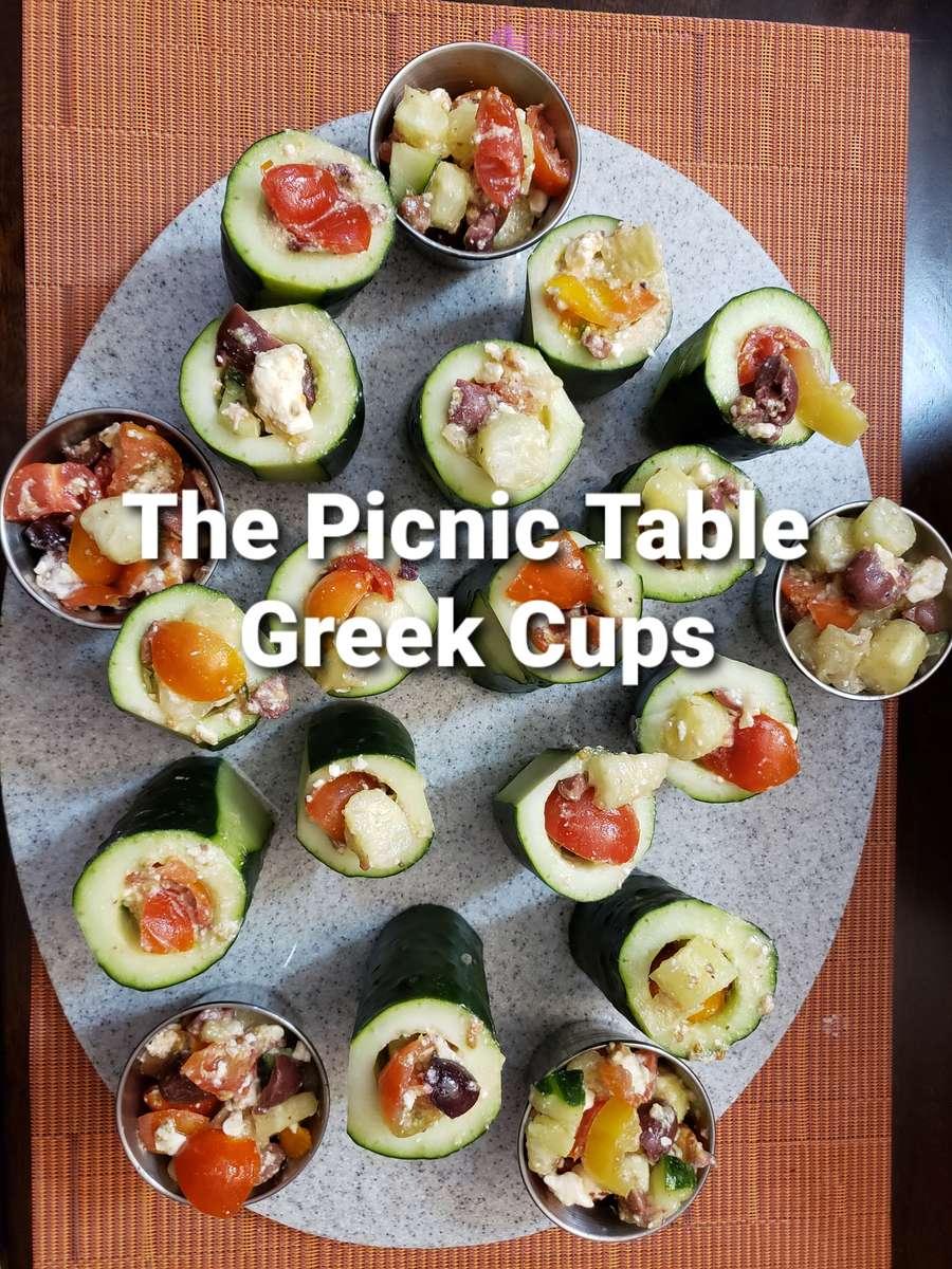 Greek Cucumber Cups