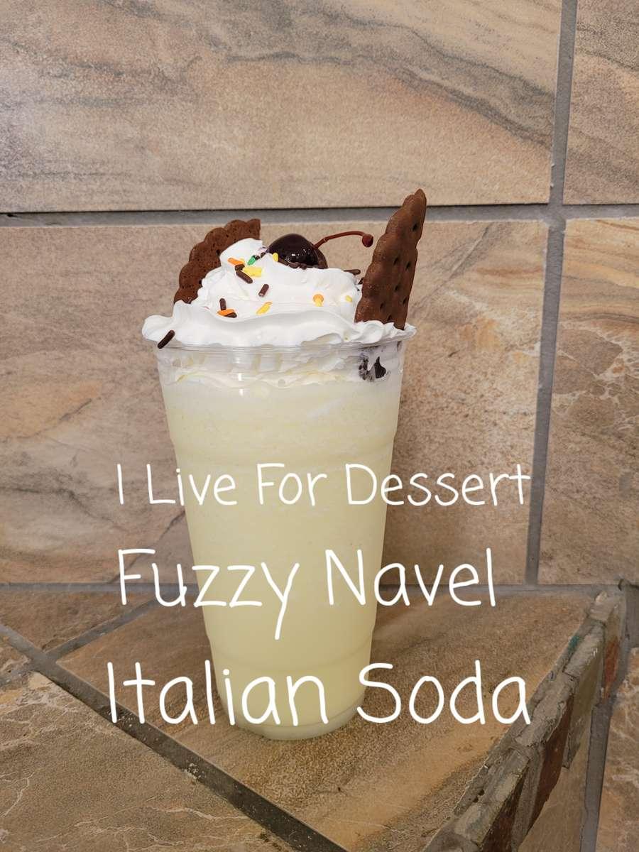24 oz Fuzzy Navel Italian Soda Mocktail