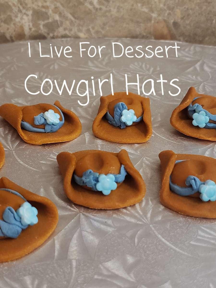 """1.5"""" Cowgirl Hat Fondant"""