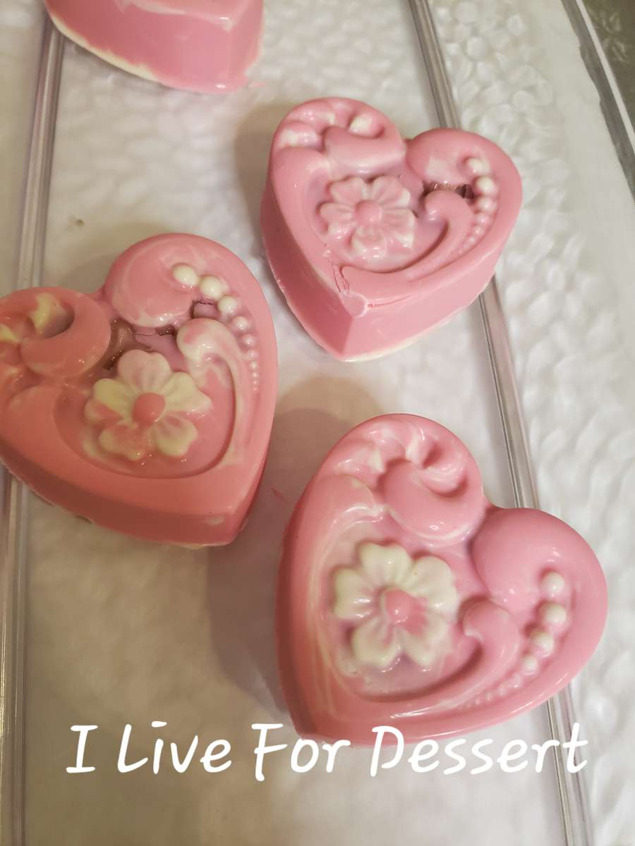 Pink Chocolate Heart / Flower Design Cherry Filling 3 Day Notice