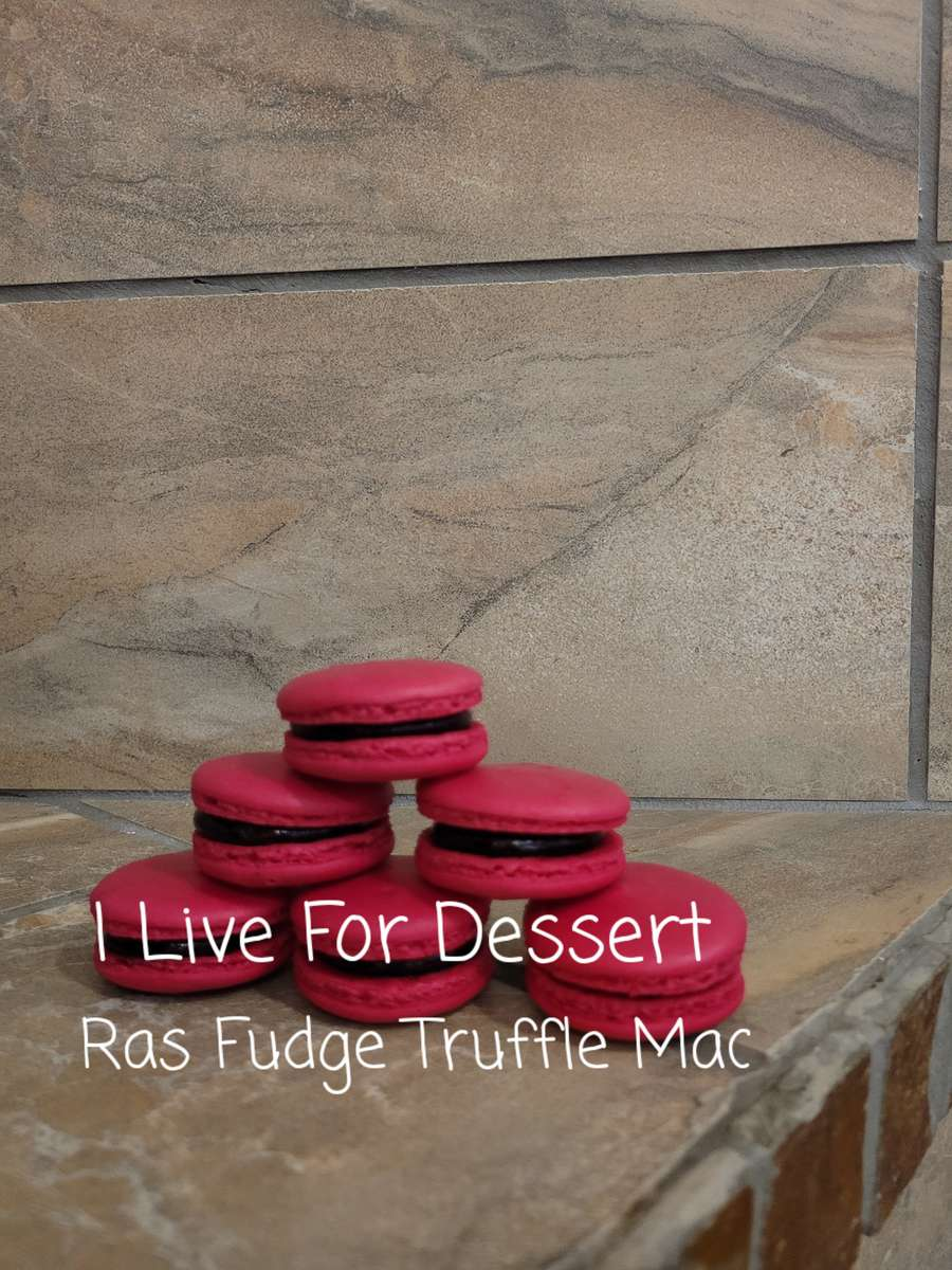 Raspberry - Fudge Truffle Macarons 3 Count Todays Batches