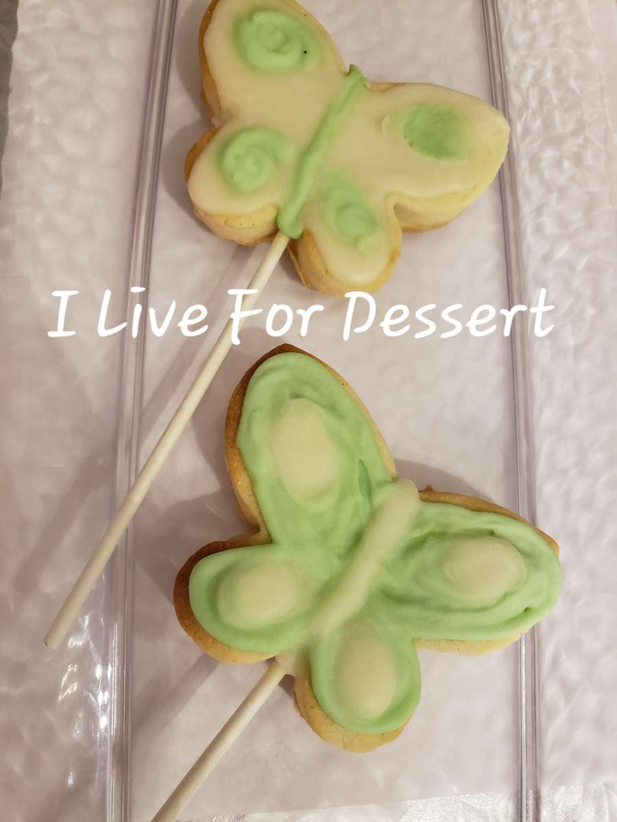 Butterfly on a Stick Shortbread Cookie 3 Day Notice