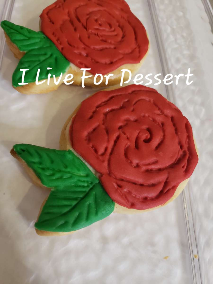 Rose Shortbread Cookie Order By 2PM For Next Day