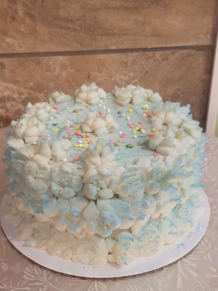 """8"""" D Vanilla Cake DF"""
