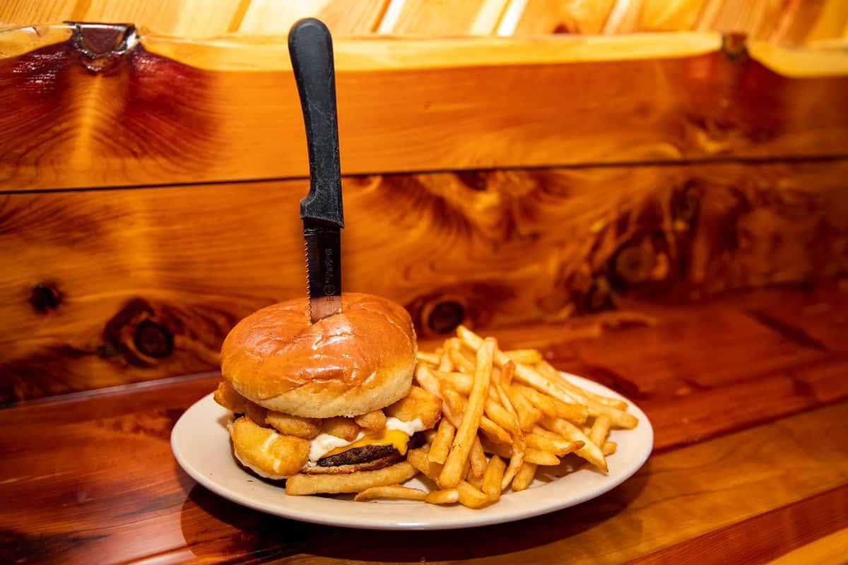 Cheese Curd Burger*