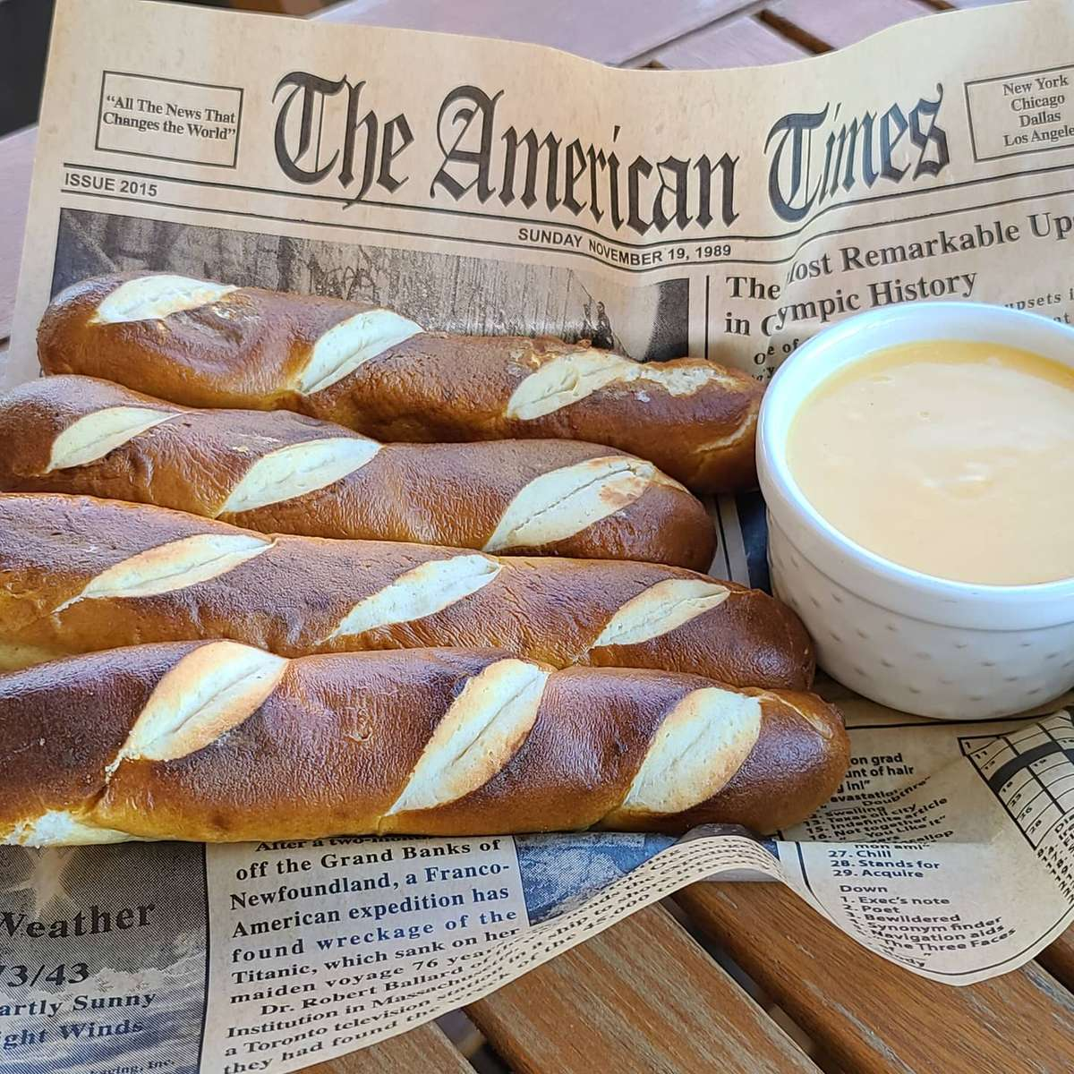 Pretzels Sticks and Beer Cheese