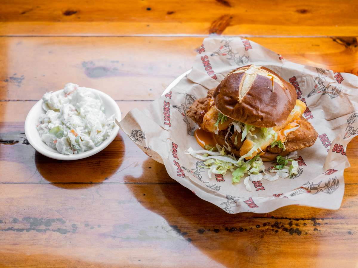 Loaded Buffalo Chicken Sandwich