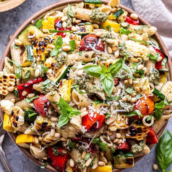 Fire-Roasted Vegetable Pesto Pasta