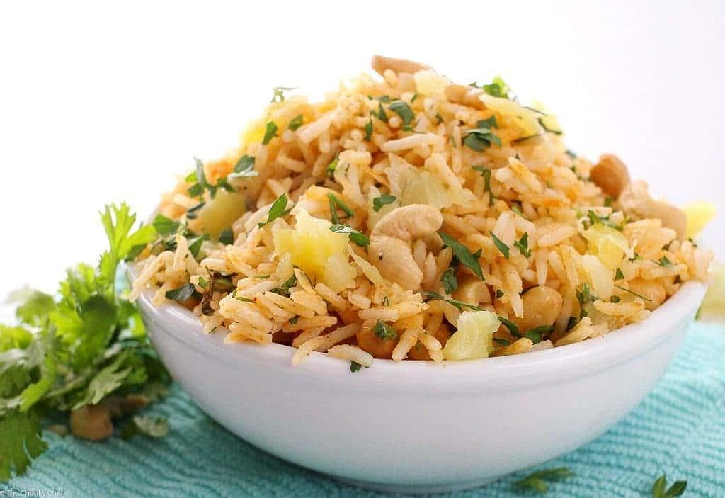 Vegan Pineapple Cashew Fried Rice