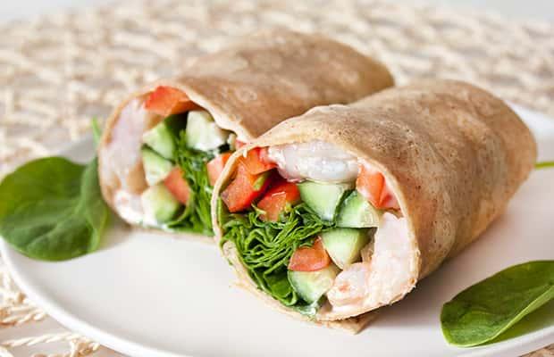 Shrimp Salad Wrap