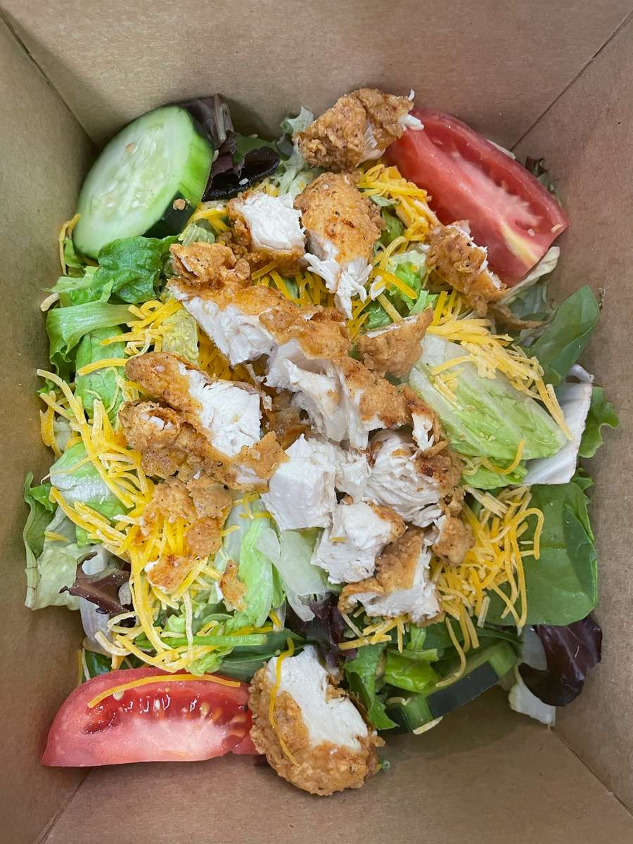 Crispy Chicken BBQ Ranch Salad