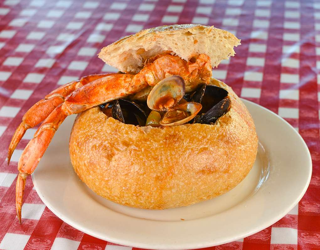 Clams, mussels, dungeness crab, & seasonal fish