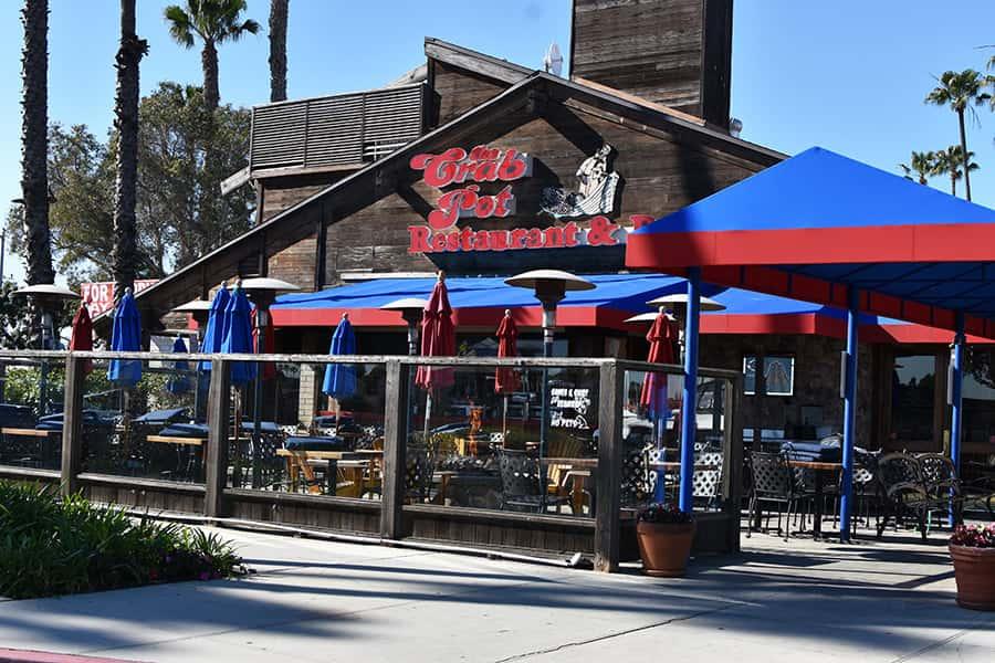 Front of Crab Pot Restaurant