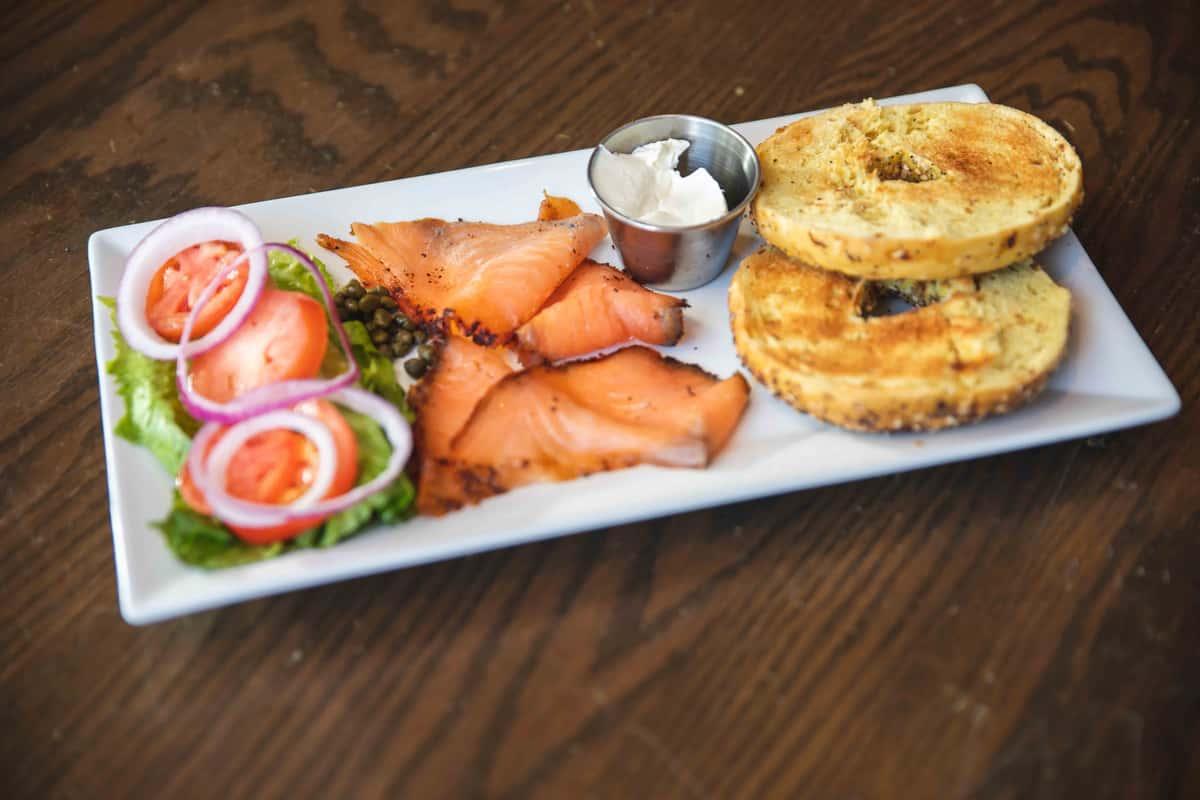 Smoked Salmon Lox & Bagel Plate