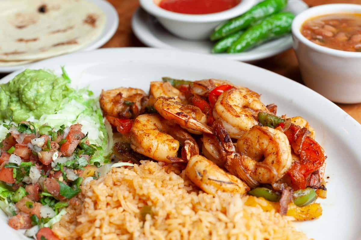 Shrimp Fajita Plate