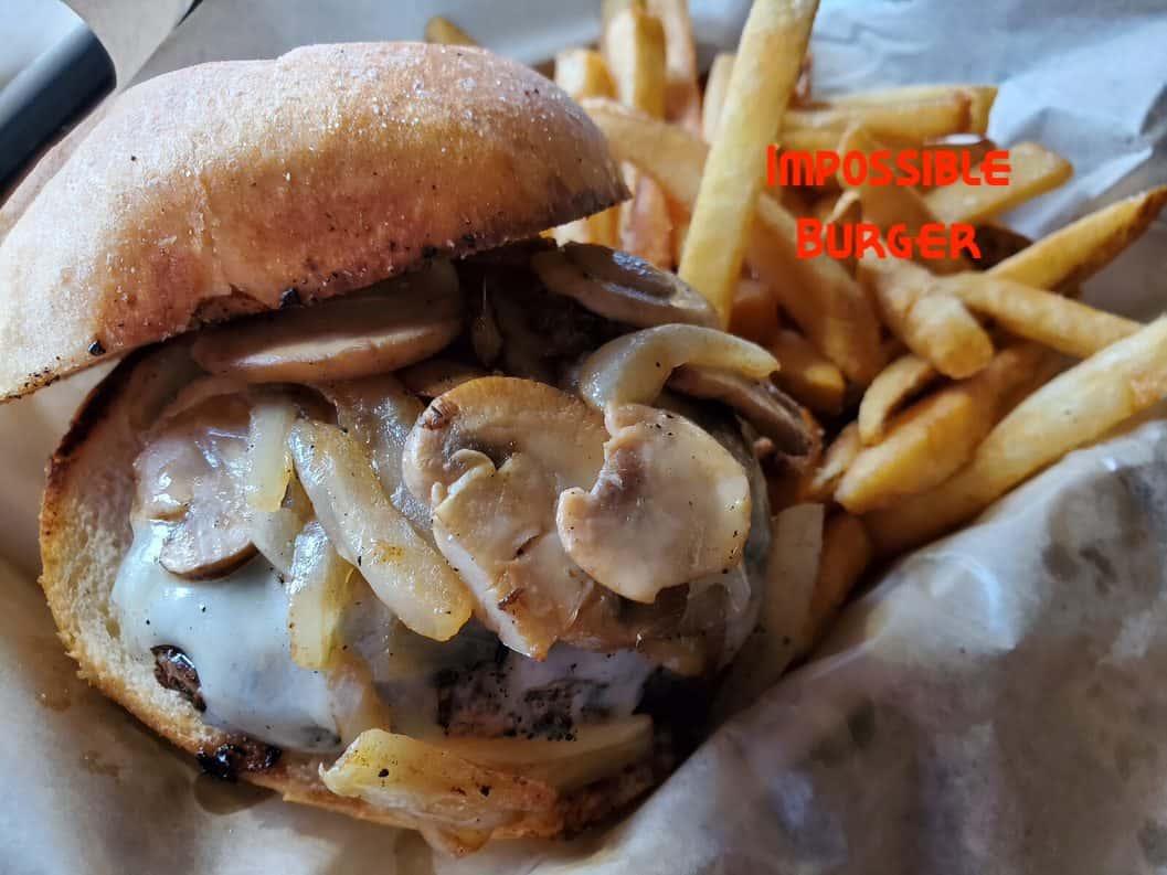 Mushroom Swiss Impossible Burger
