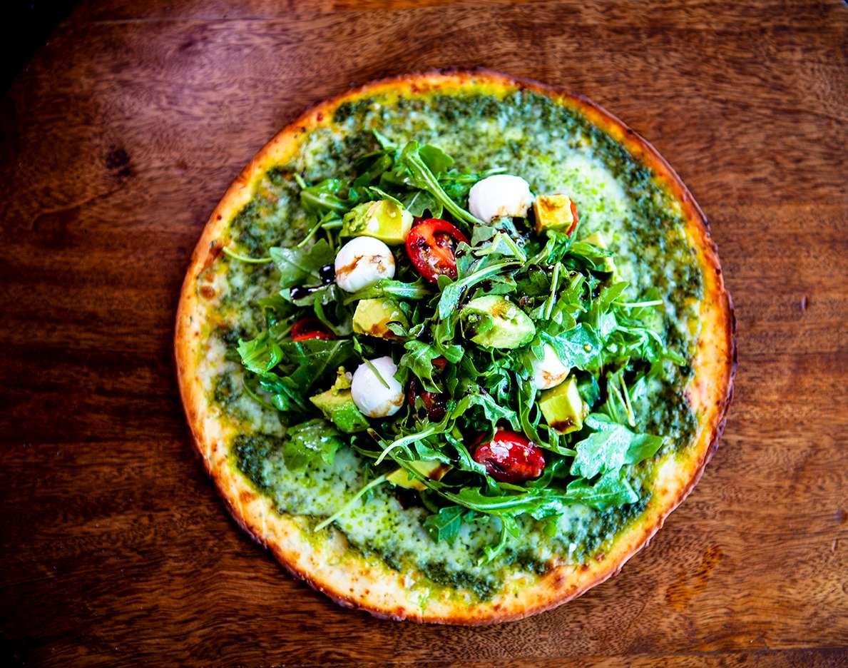 Arugula Pesto Pizza Salad