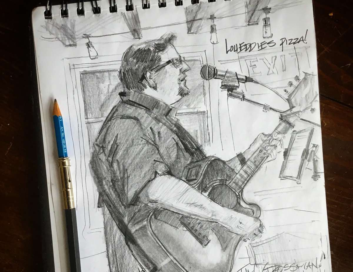 sketch of musician